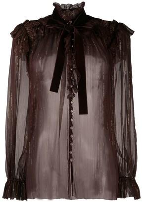 Zimmermann Ladybeetle ruffled shirt