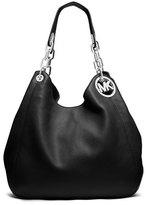 MICHAEL Michael Kors Fulton Large Leather Shoulder Tote Bag, Black