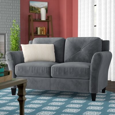 """Thumbnail for your product : Winston Porter Liston 57.9"""" Round Arm Loveseat"""