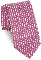 Salvatore Ferragamo Men's Augusto Dog Print Silk Tie