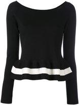 Blugirl peplum jumper - women - Cotton - 42