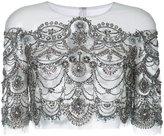 Monique Lhuillier embellished sheer capelet - women - Nylon - 4