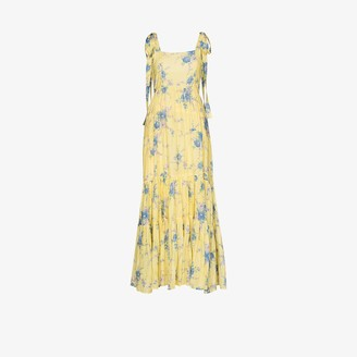 LoveShackFancy Burrows floral maxi dress