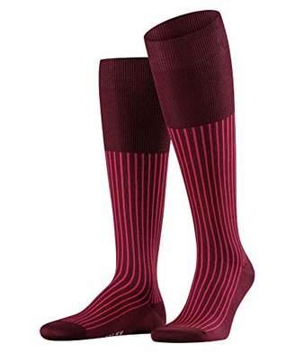 Falke Men's Oxford Stripe knee-high socks, 1 pair, UK size 7-8 (EU 41-42),cotton mix - Vibrant colours, mercerised cotton, timeless stripe design