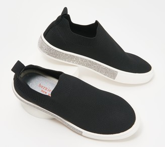 Bernie Mev. Knit Slip-On Shoes - Gardenia