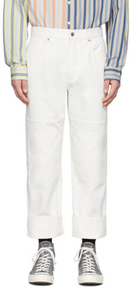 J.W.Anderson Off-White Patched Jeans