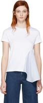 Stella McCartney White Asymmetric Combo T-shirt