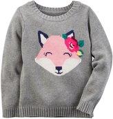 Carter's Fox Print Sweater - Grey - 18 Months