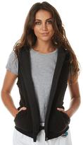 Billabong Womens Ocean Drive Sherpa Vest Black