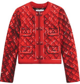 Moschino Printed Crepe Jacket - Red