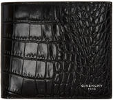 Givenchy Black Croc-Embossed Wallet