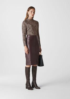 Kel Leather Pencil Skirt