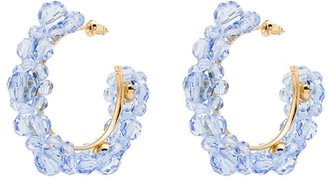Simone Rocha Flower Hoop Earrings