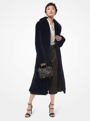 MICHAEL Michael Kors Leather and Shearling Reversible Coat