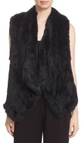 Alice + Olivia 'Kensie' Draped Genuine Rabbit Fur Vest