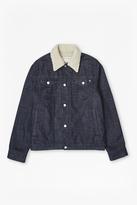 Plaited Farren Fur Denim Jacket