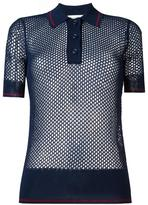 Etoile Isabel Marant mesh polo shirt - women - Polyester/Viscose - 36