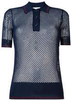 Etoile Isabel Marant mesh polo shirt - women - Polyester/Viscose - 38