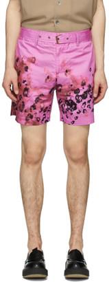Davi Paris Pink Perdus Rose Print Shorts