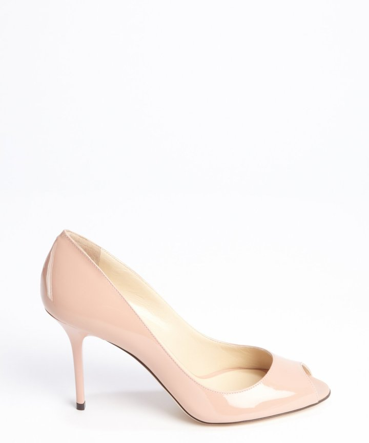 Jimmy Choo petal pink patent leather 'Evelyn' pumps