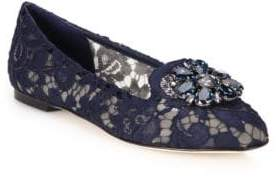 Dolce & Gabbana Embellished Lace Loafers