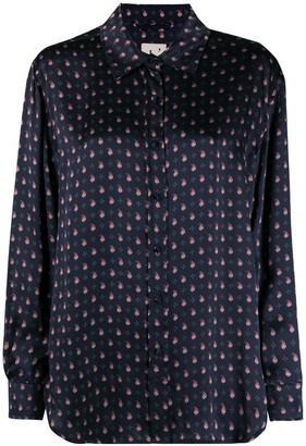 L'Autre Chose Paisley Print Silk Shirt