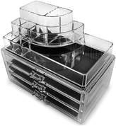 Sorbus Acrylic 3 Drawer Round Top Organizer Cosmetics & Makeup Storage Case Display