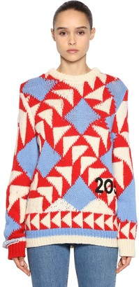 Calvin Klein Intarsia Wool Blend Sweater