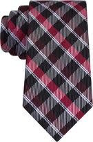 Jf J.Ferrar JF Senior Dark Gingham Plaid XL Tie
