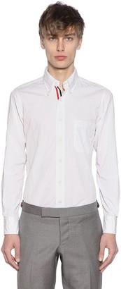 Thom Browne Cotton Poplin Shirt W/ Grosgrain Detail