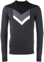 Les Hommes arrow intarsia sweater - men - Merino - L