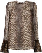 P.A.R.O.S.H. leopard print sheer blouse