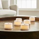 Crate & Barrel Flameless White Tea Lights, Set of 6