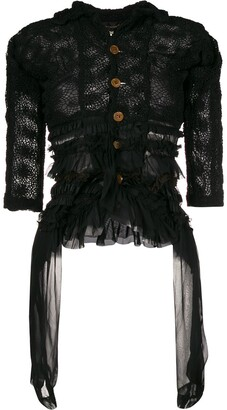 Comme Des Garçons Pre Owned Pre-Owned Ruffled Sheer Jacket