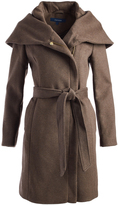Cole Haan Light Brown Hooded Wool-Blend Trench Coat