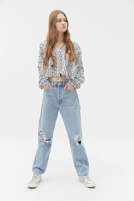 AGOLDE 90s High-Waisted Straight Leg Jean Fallout