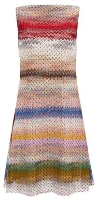 Missoni Polka-dot Zigzag-jacquard Knit Mini Dress - Multi