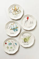 Anthropologie Linea Carta Calligrapher Monogram Canape Plate
