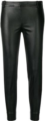 Kiltie Cropped Skinny Trousers