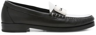 Buscemi Town Bi-Color Leather Penny Loafer