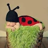 IRISMARU Baby Infant Ladybug Crochet Costume Photo Photography Prop Clothes