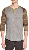 Alternative Eco Jersey Raglan Camouflage Henley Tee