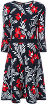 Carolina Herrera elbow sleeve floral knit dress - women - Polyamide/Virgin Wool/viscose - S