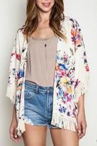 Umgee USA Floral Print Kimono