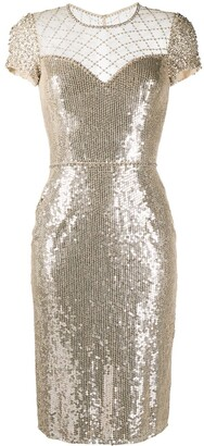 Jenny Packham Delphine sequin-embellished dress