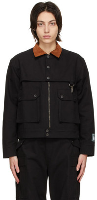 Reese Cooper Black Cotton Canvas Work Jacket