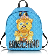 Moschino Teddy Bear Blue Quilted Nylon Backpack