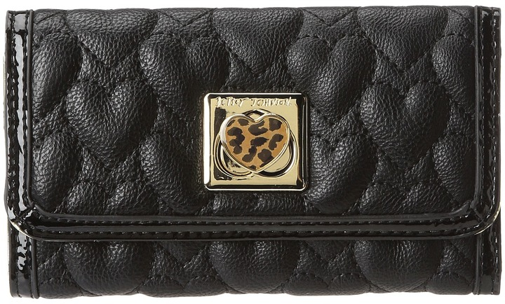Betsey Johnson Will You Be Mine Wallet (Black) - Bags and Luggage