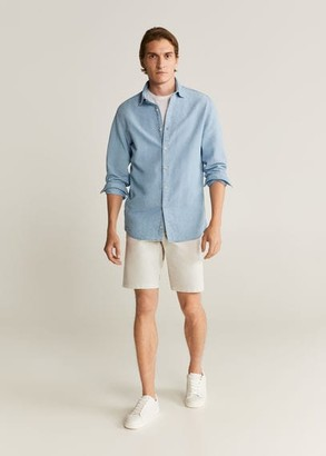 MANGO MAN - Chino Bermuda shorts light/pastel grey - 28 - Men