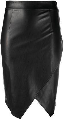 Patrizia Pepe Faux Leather Wrap Pencil Skirt
